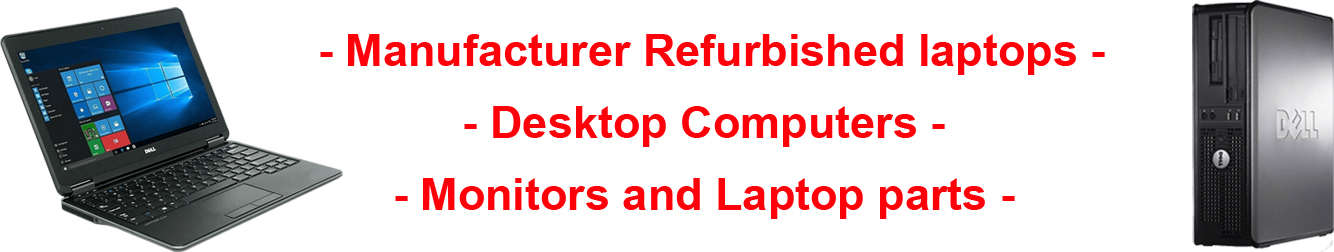 middle banner for landing page showing computer logos and a lapto and desktop computer at each side